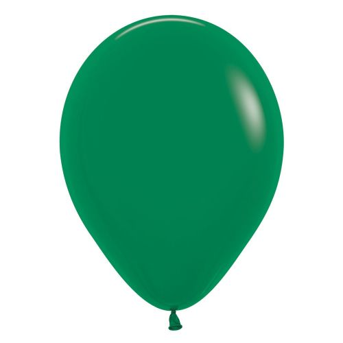 "Fashion Colour Solid Forest Green 032 Latex Balloons 12""/30cm"